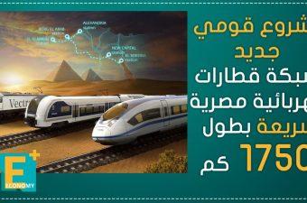 مشروع قومي جديد.. شبكة قطارات كهربائية مصرية سريعة بطول 1750 كم